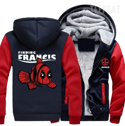 TEEPEAT Deadpool Finding Francis Fleece Hoodie