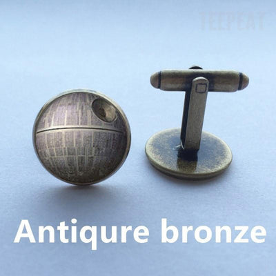 TEEPEAT Death Star Cuff Links