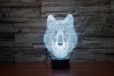 TEEPEAT Electronics 3D Wolf Lamp
