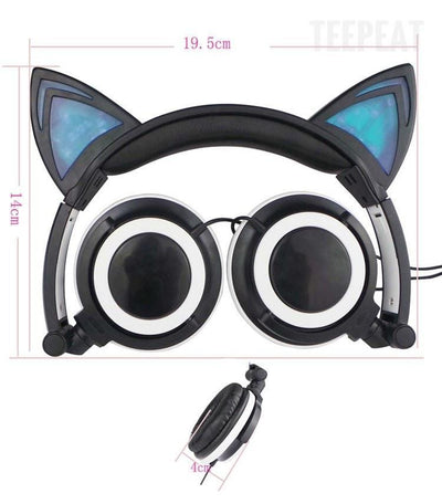 TEEPEAT Electronics Cat Ears Shaped Headphones