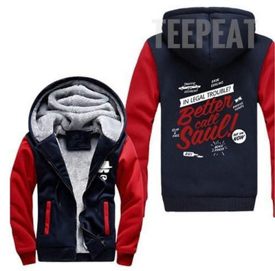 TEEPEAT Jacket 2 / XXL Better Call Saul Fleece Hoodie