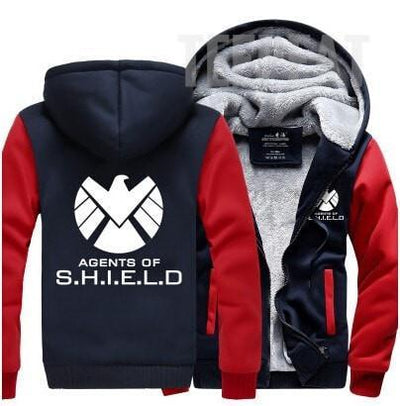 TEEPEAT Jacket Agents of S.H.I.E.L.D. Fleece Hoodie