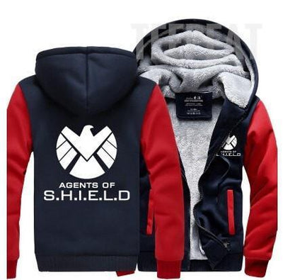 TEEPEAT Jacket Army Green / 4XL Agents of S.H.I.E.L.D. Fleece Hoodie