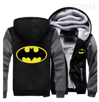 TEEPEAT Jacket Batman Fleece Hoodie
