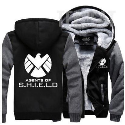 TEEPEAT Jacket Green / 4XL Agents of S.H.I.E.L.D. Fleece Hoodie