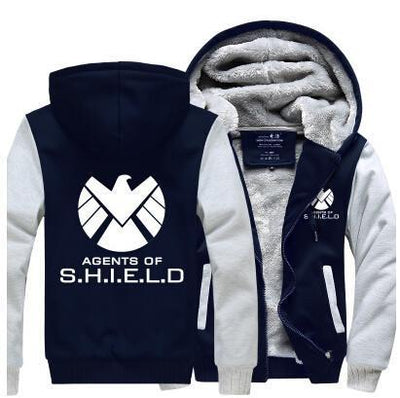 TEEPEAT Jacket Ivory / 4XL Agents of S.H.I.E.L.D. Fleece Hoodie