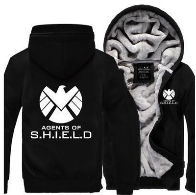 TEEPEAT Jacket Khaki / 4XL Agents of S.H.I.E.L.D. Fleece Hoodie
