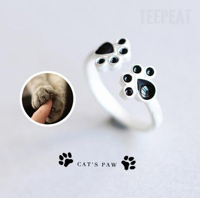 TEEPEAT jewelry Cat Paw Fashion Rings