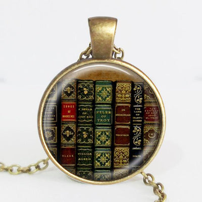 TEEPEAT Necklace A Book Case Vintage Necklace