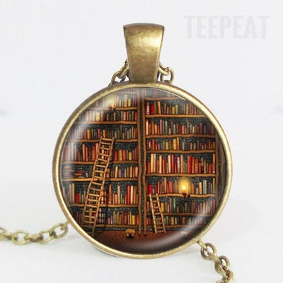 TEEPEAT Necklace B Book Case Vintage Necklace