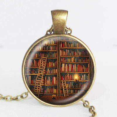 TEEPEAT Necklace Book Case Vintage Necklace