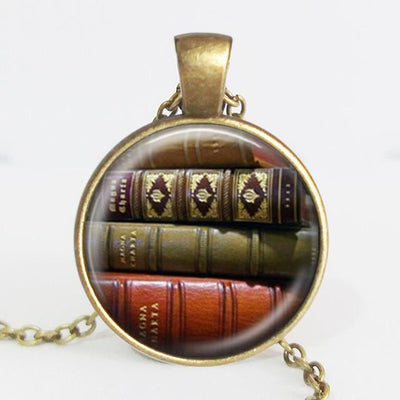 TEEPEAT Necklace C Book Case Vintage Necklace