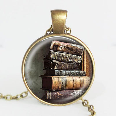 TEEPEAT Necklace E Book Case Vintage Necklace