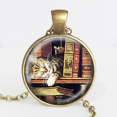 TEEPEAT Necklace J Book Case Vintage Necklace