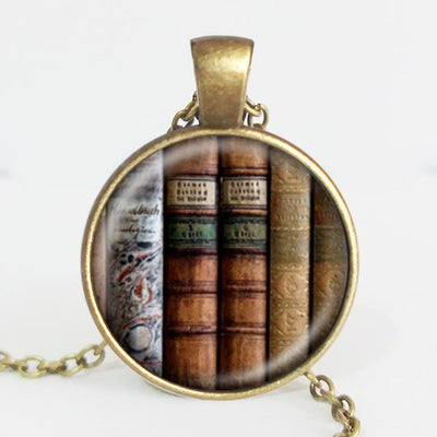 TEEPEAT Necklace K Book Case Vintage Necklace