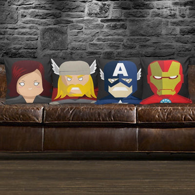 TEEPEAT Pillows Avengers Character Pillow Case