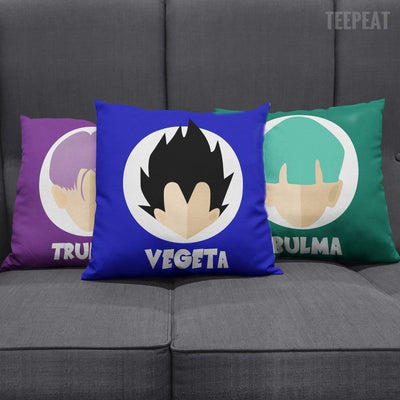 TEEPEAT Pillows Bulma Trunks Vegeta Pillow Case