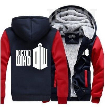 TEEPEAT Red / 4XL Doctor Who Winter Fleece Hoodie