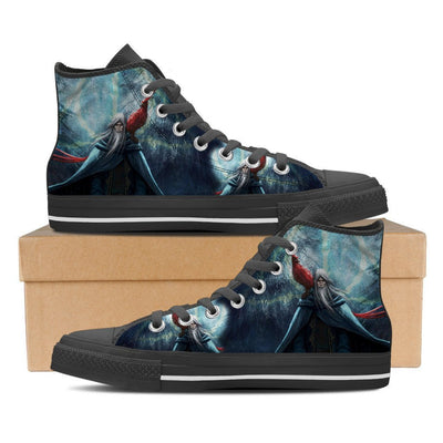 TEEPEAT Shoe Mens High Top / Black / US8 (EU40) Dumbledore Men High Top Canvas Shoe