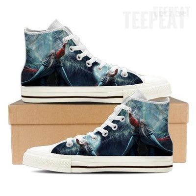 TEEPEAT Shoe Mens High Top / White / US8 (EU40) Dumbledore Men High Top Canvas Shoe