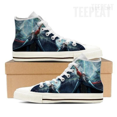 TEEPEAT Shoe Womens High Top / White / US6 (EU36) Dumbledore Women High Top Canvas Shoe
