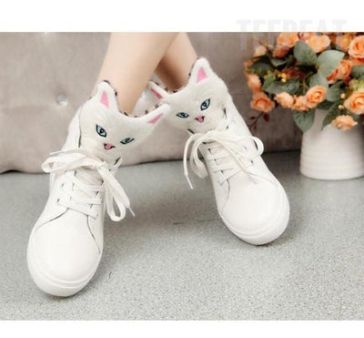 TEEPEAT shoes Cat Head Flat Shoes