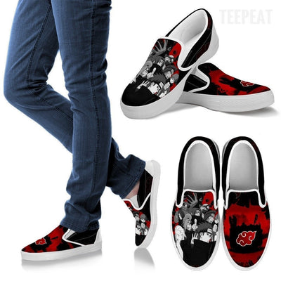 TEEPEAT Shoes Men's Slip Ons / White / US8 (EU40) Akatsuki Members Slip-On Canvas Shoes