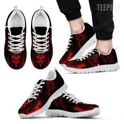 TEEPEAT Shoes Men's Sneakers / White / US5 (EU38) Darth Maul Sneakers