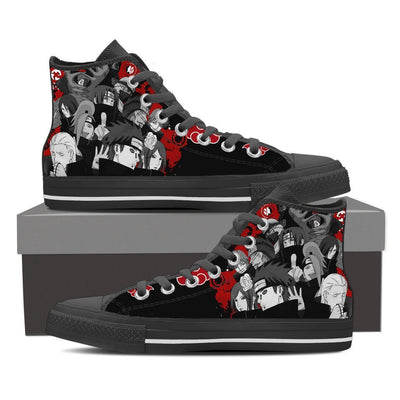 TEEPEAT Shoes Mens High Top / Black / US8 (EU40) Akatsuki Popped Up High Top Canvas Shoes