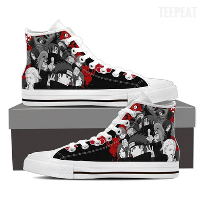 TEEPEAT Shoes Mens High Top / White / US8 (EU40) Akatsuki Popped Up High Top Canvas Shoes