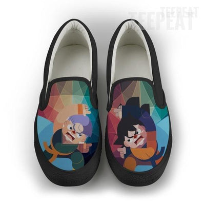 TEEPEAT Shoes Mens Slip On / Black / US8 (EU40) DBZ Gotenks Men Slip-On Canvas Shoes
