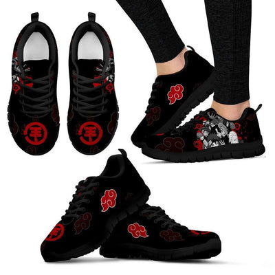 TEEPEAT Shoes Women's Sneakers / Black / US5 (EU35) Akatsuki Members Sneakers