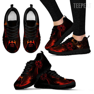 TEEPEAT Shoes Women's Sneakers / Black / US5 (EU35) Darth Vader Sneakers