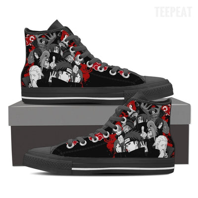 TEEPEAT Shoes Womens High Top / Black / US6 (EU36) Akatsuki Popped Up High Top Canvas Shoes