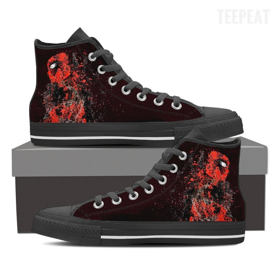 Deadpool Splatts High Top Canvas Shoes