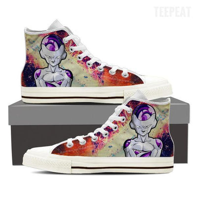 TEEPEAT Shoes Womens High Top / White / US6 (EU36) DBZ Frieza Women High Top Shoes