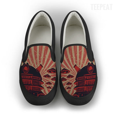 TEEPEAT Shoes Womens Slip On / Black / US6 (EU36) Dalek Poster Women Slip-On Canvas Shoes