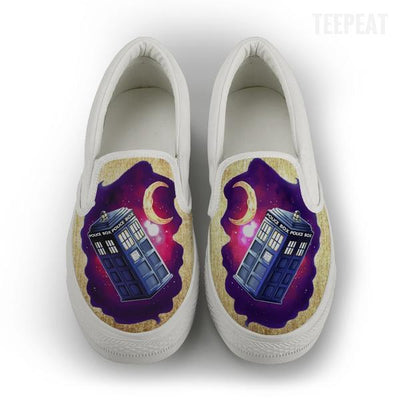 TEEPEAT Shoes Womens Slip On / White / US6 (EU36) Dreamy Phonebox Women Slip-On Canvas Shoes