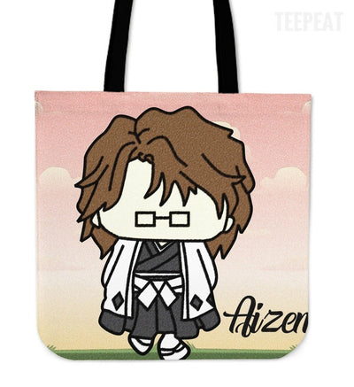 TEEPEAT Totes Aizen Bleach Chibi Character Totes