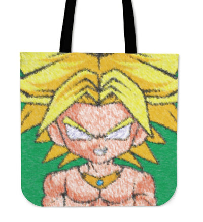 TEEPEAT Totes Broly DBZ Pastel Style Totes