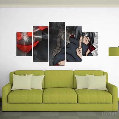 Itachi Painting - 5 Piece Canvas-Canvas-TEEPEAT