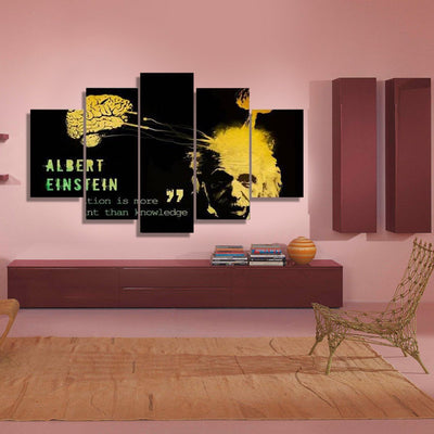 xu zhenchun Canvas Albert Einstein - 5 Piece Canvas Painting