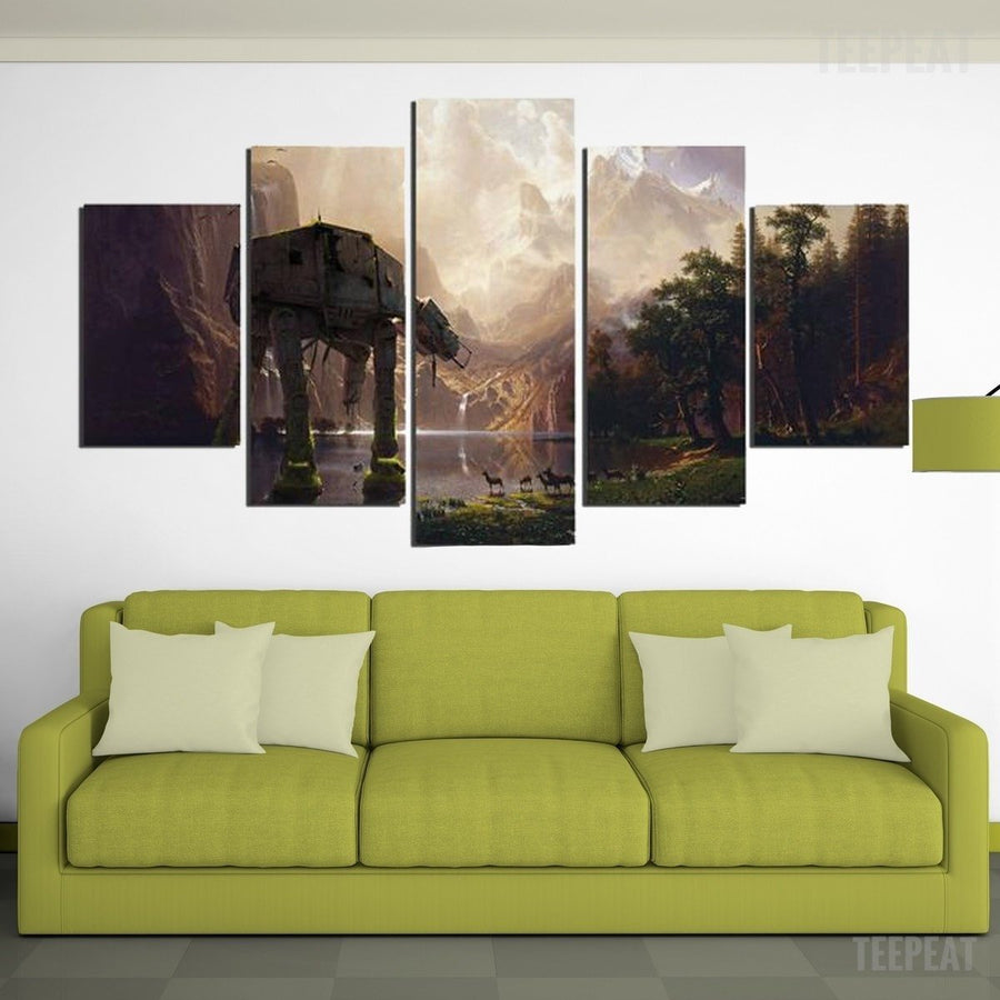 AT-AT Painting - 5  Piece Canvas