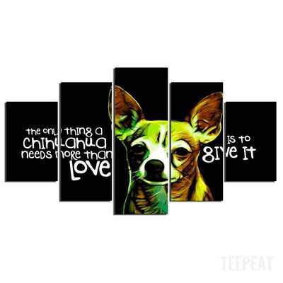 xu zhenchun Canvas Chihuahua Painting - 5 Piece Canvas