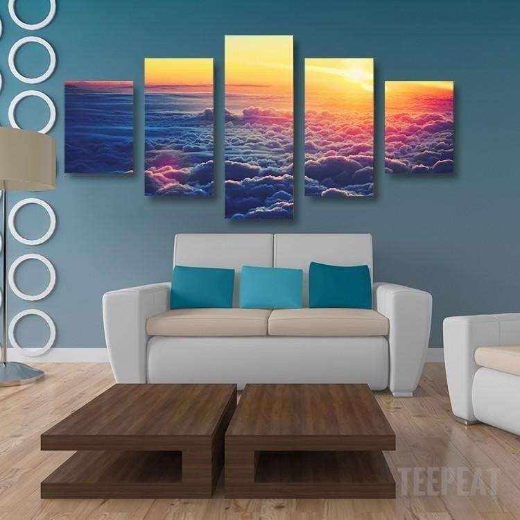 Clouds Painting - 5 Piece Canvas