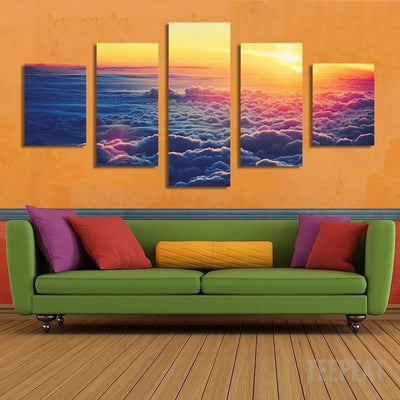 xu zhenchun Canvas Clouds Painting - 5 Piece Canvas