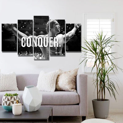 xu zhenchun Canvas Conquer Painting - 5 Piece Canvas