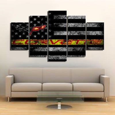 xu zhenchun Canvas Corvette Painting - 5 Piece Canvas