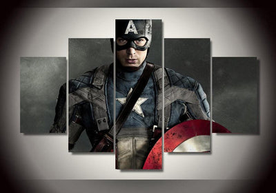 xu zhenchun Canvas Large / Unframed Captain America Painting - 5 Piece Canvas LIMITED EDITION