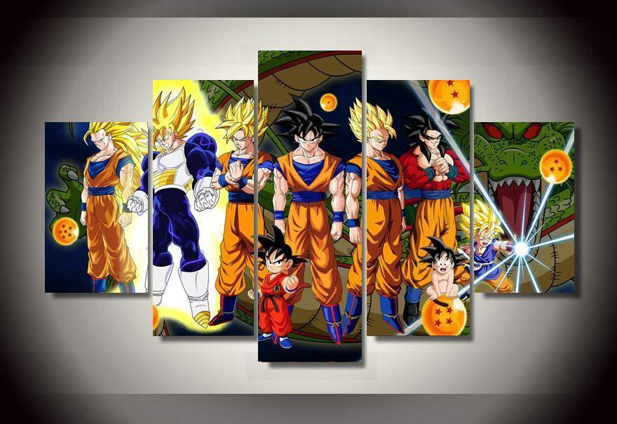 Dragon Ball Z - 5 Piece Canvas Painting